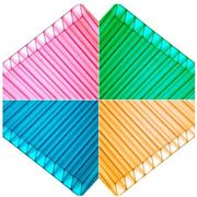 Сотовый  поликарбонат цветной и прозрачный